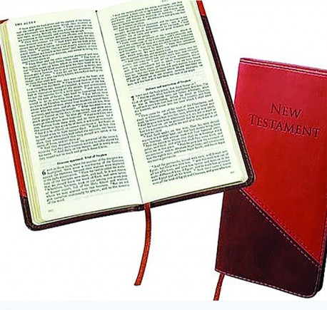KJV Slimline Pocket New Testament-BURGUNDY