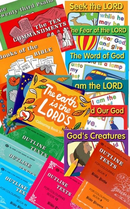Children's Scripture Verse Coloring Book Set - 22 Books