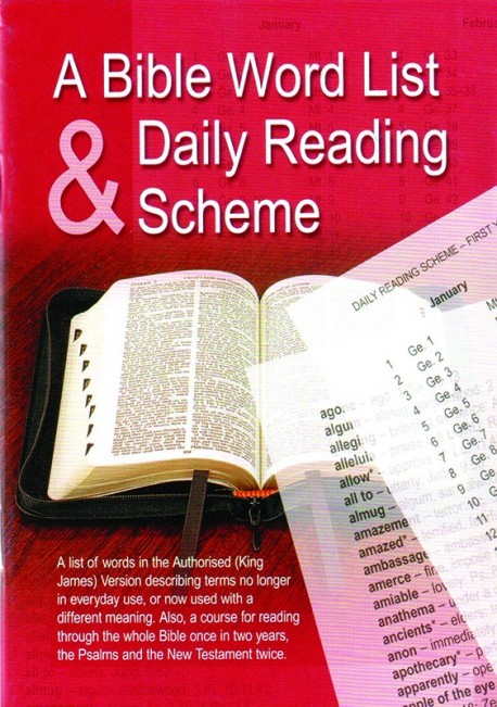 Bible Word List and Reading Scheme