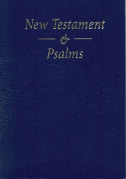 New Testament & Psalms Bible - Blue